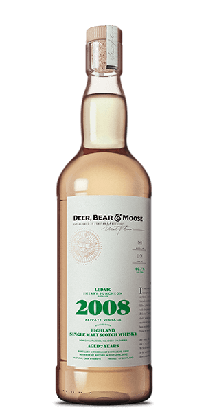 Deer, Bear & Moose Ledaig 2008 Sherry Puncheon