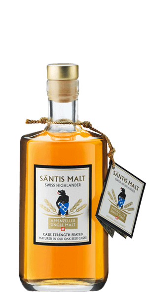 Santis Cask Strength Peated Swiss Whisky