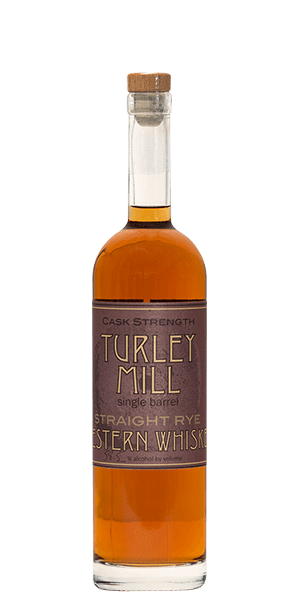 Turley Mill Single Barrel Straight Rye Cask Strength Whiskey