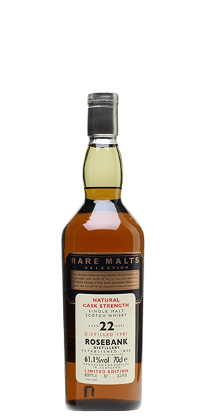 Rare Malts Rosebank 22 Year Old 1981