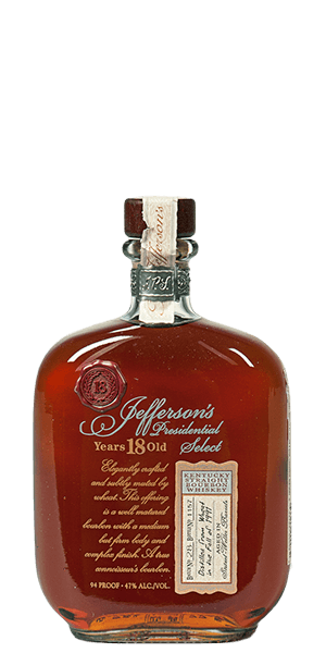 Jefferson's Presidential Select 18 Year Old 1991 Vintage