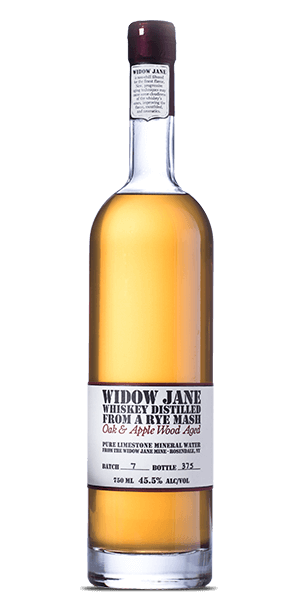 Widow Jane Distilled From a Rye Mash - Oak & Apple Wood Aged Whiskey