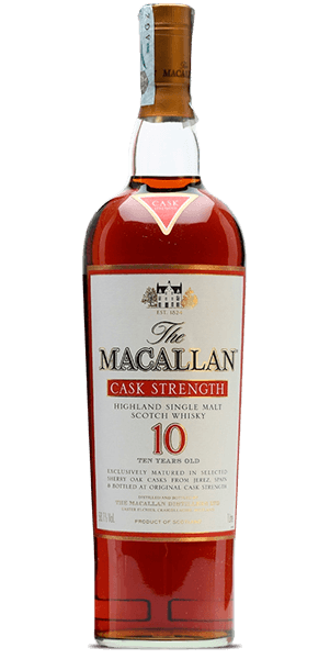The Macallan 10 Year Old Cask Strength Edition