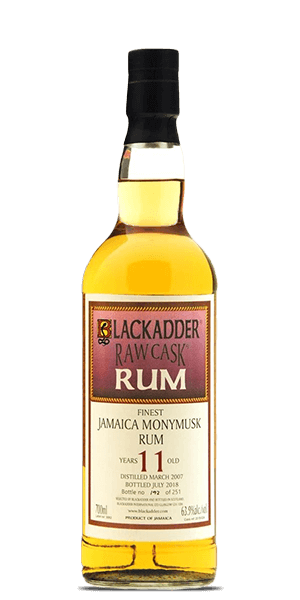 Monymusk 2007 Blackadder Raw Cask Finest Jamaica 11YO