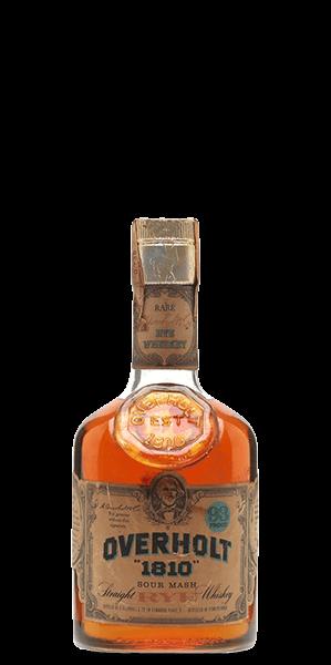 Overholt 1810 Straight Rye Whiskey 1970s / Giovinetti Import