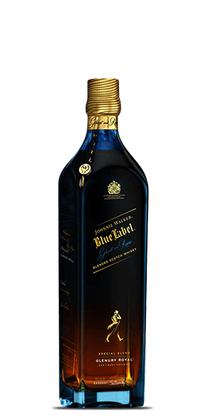Johnnie Walker Blue Label Ghost and Rare Port Glenury Royal