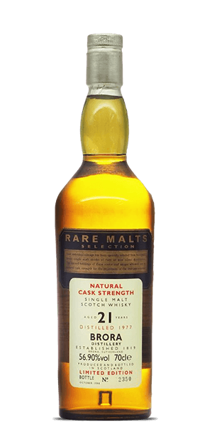Brora 21 Year Old 1977 - Rare Malts