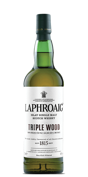 Laphroaig Single Malt Scotch Triple Wood - signed by Master Distiller