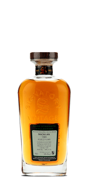 The Macallan 1989 Signatory Vintage 27 Year Old Cask Strength