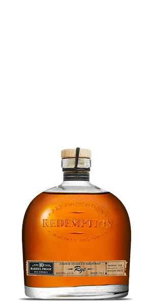 Redemption 10 Year Old Barrel Proof High Rye