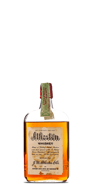 Atherton Whiskey Prohibition Era Bottling