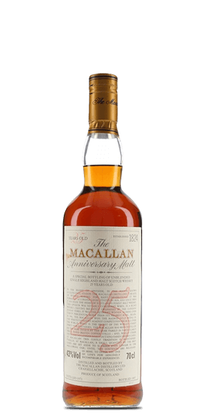 The Macallan 25 Year Old - Anniversary Malt