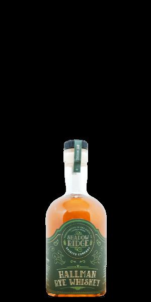 Shadow Ridge Hallman Rye Whiskey