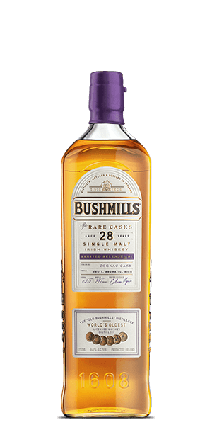 Bushmills 28 Year Old Single Malt Cognac Cask Whiskey